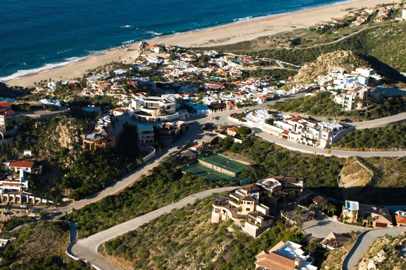 Aerial image of the Tennis Courts at Pedregal